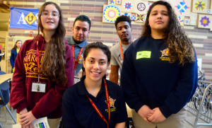Five high school students from a zero waste schools team.