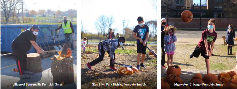 Images from 2020 Pumpkin Smash events